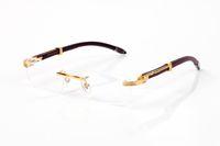 Старинные Солнцезащитные очки Buffalo Квадрат без оправы Очки RIMELENT Очки Оптические Женщины Мода Очки Деревянные гепарды Ноги Буффало Рог