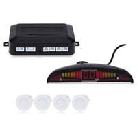 1 Juego de sensores de aparcamiento del coche Auto del automóvil Pantalla LED 4 sensores para todos los autos Sistema de estacionamiento con monitor de radar de respaldo de asistencia inversa