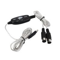 100et / LOT Новый 2M USB-внесение MIDI интерфейс Cable Converter ПК к музыкальному адаптеру клавиатуры