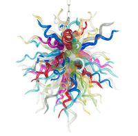 램프 현대 꽃 샹들리에 조명 LED 빛 손에 날아 샹들리에 아트 장식 베네치아 유리 펜던트 조명