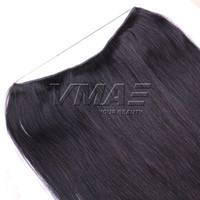 Brazilian Halo Flip In Human Hair Extensions Straight Natura...