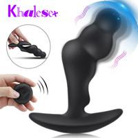 Khalesex Télécommande sans fil Vibrant prostate Massager Hommes Plug Anal Homme masturbateur pour homme Anus G Spot Vibrator Adult Sex Toys MX200410