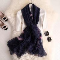 Verão nova moda feminina de luxo cachecol marca ice silk lenço floral impressão de viagem protetor solar capa toalha de praia especificações 190 * 135 cm alta qu