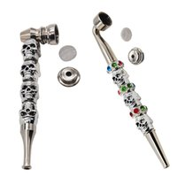 Wholesale Skull Skeleton Kito Pipes 178mm 128mm Metal Silver...