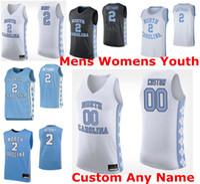 North Carolina Tar Heels Trikots Herren 2 Cole Anthony Jersey 5 Armando Bacot Black Garrison Brooks Caleb Ellis NCAA Basketball Trikots Custom