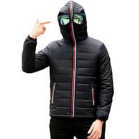 Designer Winterjacke Herren Thermojacke warm Männer Parkas Fancy Kapuze mit Brille Jugend Mann Jacken Outwear seltsame Kleidung