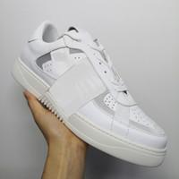 VL7N Sneaker Herren-Schuh-echtes Leder-Turnschuh-Leinwand und Kalbsleder Turnschuhe Unisex Low Top Chaussures beiläufige Schuh-Größe 35-45 laufen