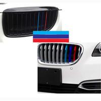 3-Color Stripes autocollant de voiture décalque de vinyle Badge emblème BMW Grill M Sport Tech