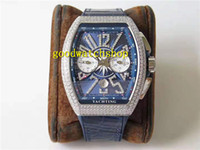 V3 الأعلى الطليعة V45 ترف الماس الرجال ساعة اليد ساعات ETA 7753 التلقائي كرونوغراف الماس مقياس الياقوت كريستال الفولاذ المقاوم للصدأ
