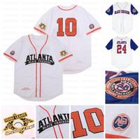 Big Boy Atlanta Black Galletas Custom NLBM Negro Ligas Jersey de béisbol Nombre Sticheed Número Stiched Envío rápido