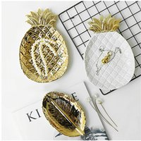 Keramik Ananas Servierplatte Schmuck Display Tray Fruit Food Saucer Vorratsdose Salat Snack Dessert Platter Table Decor Ananas Gerichte