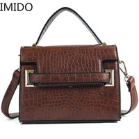 IMIDO 2019 New Vintage Portable Luxury Handbags Women Bag De...