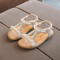 sandalias TELOTUNY niño infantil para niños de los bebés de perlas de cristal único de la princesa zapatos de verano sandalias de los niños niñas Jun6