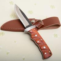 Couteau de qualité supérieure pure fabriqué à la main de survie couteau mille couches en acier manche en bois lame avec manche en cuir
