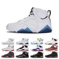Hommes 7 Chaussures de basketball Fadeaway Argent pur Lièvre 7s Sports Histoire du vol Bordeaux GMP Olympic Tinker Alternate Sneakers taille 41-47