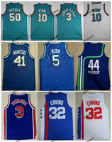 NCAA Vintage 44 Pistol Pete Maravich 3 Abdur Rahim 10 Mike Bibby 50 Reeves Julius Erving 3 Drazen Petrovic Jason Kidd Basketball Jersey