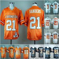 NCAA Oklahoma State Cowboys # 21 Barry Sanders 3 Brandon Weeden 81Justin Blackmon 2019 College Football Trikots Nähed Weiß Orange