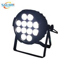 RGBWA 5in1 12x15w projektörü aydınlatma Olaylar par dmx led sahne ince yassı Powercon par ışık uplight açtı