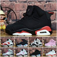 Cheap womens Jumpman 6 VI basketball shoes J6 infrared Black...