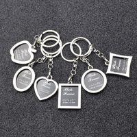 6 modelos moldura de foto chaveiro liga liga amante imagem chave chaveiro chaveiro anéis coração pingentes para mulheres homens aniversário presente