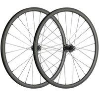700C الفاصلة قرص الفرامل الكربون العجلات 30mm وعمق * العرض 25mm الكربون عجلات الطريق دراجة 3K ماتي سباق العجلات CX3 المحور