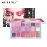 Bayan Rose 18 renkli ters renk göz farı paleti mat ışıltı toz güzellik makyaj camlı palet makyaj göz farı