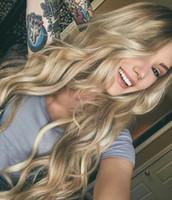 13*6 фронта шнурка белокурых человеческих волос парики с волосами младенца до нарветесь ломбер блондинка бразильский полный парик шнурка Девы волос