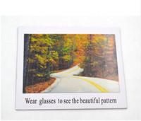 고품질 편광 된 선글라스 테스트 카드 체크 안경 편광 된 종이 편광 된 안경 Examinatio 장식 그림 크기 17x14cm