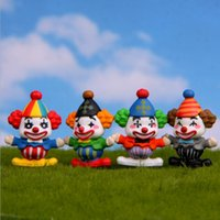 Lovely Clown Figure Dolls Collection Decor Expression Model ...