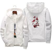 Primavera Estate coppia Rose pattern Sun Protection Jacket Uomo Donna Bomber cappotto zip sottile della tuta sportiva Windbreaker Abbigliamento