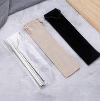 Нержавеющая сталь Солома Set Titanium покрытием цветной металл 304 Цвет Straight Колено Drink Giveaway соломы Настройка EEA1249-3