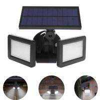 48LED المزدوج رئيس الخفيفة للطاقة الشمسية رادار الاستشعار أضواء في الهواء الطلق حديقة الخفيفة للطاقة الشمسية السوبر مشرق يارد الفيضانات LED مصباح للماء