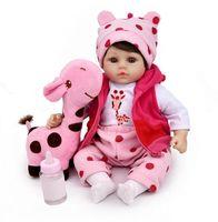 45 cm Silikon Reborn Baby Nette Puppen Kinder Weiche Spielkamerad Realistische Spiel Spielzeug Mädchen Geburtstagsgeschenke
