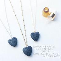 Hot coeur Lava Rock collier pendentif 9 couleurs Aromathérapie Huile Essentielle Diffuseur en forme de coeur Colliers pierre pour femmes Bijoux de mode