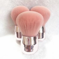 Luxe Shinny Maquillage Pinceau Soft Silver Champignon Pinceau Poudre Rose plat Air Kabuki Angled Fard brosse de maquillage