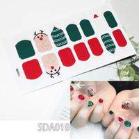 10 piezas Nuevo diseño de Navidad Uñas completas falsas Cuadrado corto DIY Acrílico Puntas de uñas falsas con adhesivo para dama