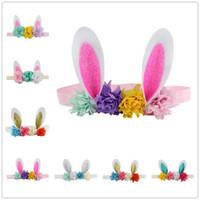 2020 fascia di Pasqua orecchie da coniglio hairband Newborn tratto bambini le fasce accessori per capelli bambini svegli partito corona di ragazze Copricapo A22101