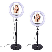 20 cm Dimbable LED Studio Câmera Anel Luz Photobox Telefone Video Luz Luminária para Fotografia Makeup Fill Lights Fotografia Backdrop Stand