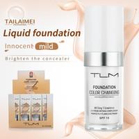 Impeccable Changement GGP Couleur Fondation Tone peau chaude couleur du visage de maquillage Base de Nu du visage hydratant liquide Couverture Correcteur