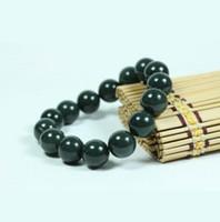 Autêntica naturais jade jade Xinjiang Hetian contas pulseiras redondas pulseira de jade homens e mulheres pulseira modelos