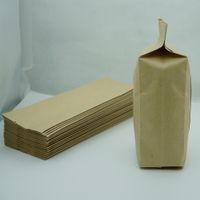 Kahverengi Kraft Kağıt Oragan Torba, 100pcs / 9x25cm Coffee Bean Depolama Kılıfı Craft Kağıt Körükler Cep, Üst Açık Fıstık Ambalaj Torbaları ısıyla yapışabilir