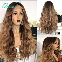 Brown Blonde highlights Color Human Hair Lace Front Wig 250%...