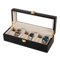 6 Plaid Black Watch en bois Boîte à bijoux affichage Stockage Coffret