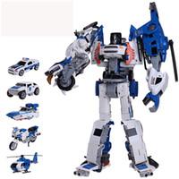 Alaşım deformasyon beş beden araba King Kong robot çocuklar için eğitici oyuncaklar