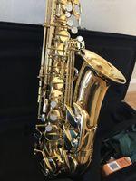 Alto E Flat Jupiter JAS-769-II Саксофон Латунный Золотой Лак Высокое Качество EB TUNE Воспроизведение SAX Музыкальный инструмент с корпусом