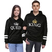 Lovers Dress Queen King Stripe Printing Even Hat Lovers Swea...