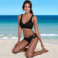 2019 iki Parçalı Seksi mini artı boyutu Bikini set Mayo mayo beachwear mayo biquini eşofman kadın plaj kıyafeti mujer kız irin