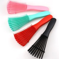 Green Pink Hair Brush Scalp Massage Comb Women Detangle Hairbrush Comb Hairdressing Salon Styling Health Care Reduce Fatigue