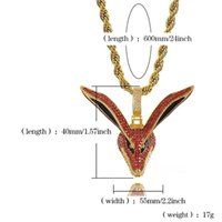 Hop Fox Gold Necklace Ice Men 2021 Mens Jewelry Out For Pendant Zirconia Necklaces Hip Hiphop Head Cubic Lrebt