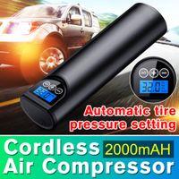 12V 150PSI oplaadbare luchtpomp banden inflator draadloze draagbare compressor digitale auto band pomp voor auto fietsbanden ballen
